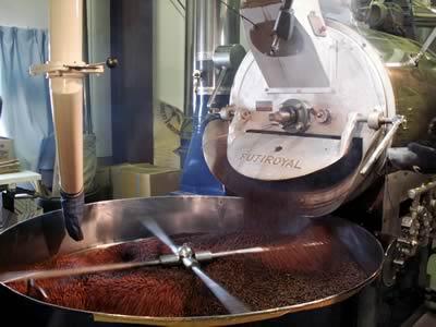 島野珈琲 コーヒーの焙煎